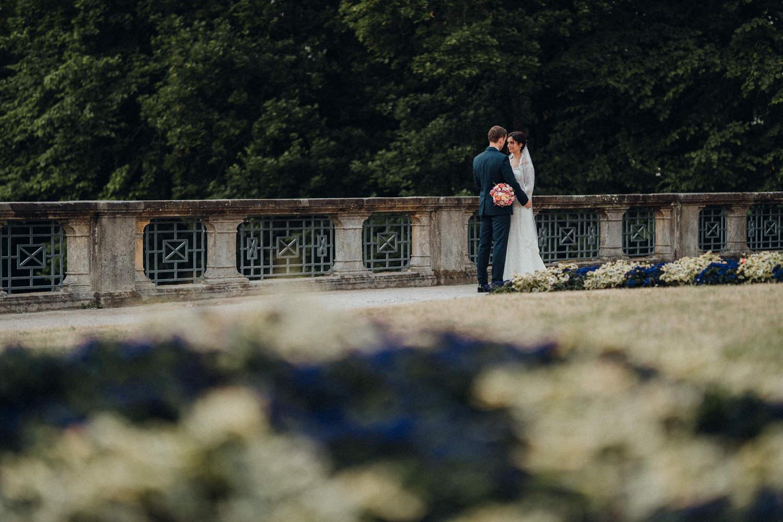 Brautpaar Portrait Fotoshooting bei Schloss Fantaisie Bayreuth